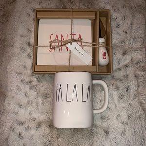 Rae Dunn FaLaLa Mug & Santa Plate